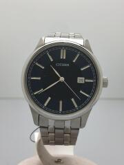 クォーツ腕時計/アナログ/ステンレス/BLU/ブルー/青/SLV/シルバー/GN-4-S