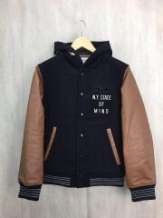 スタジャン/S/ウール/BLK/ブラック/袖合皮