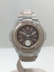 ソーラー腕時計/デジアナ/ステンレス/ブラウン/MSG-3000CBJ