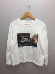 長袖Tシャツ/M/コットン/ホワイト/9WCT-#931-CD