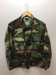 ミリタリージャケット/XXS/コットン/グリーン/カモフラ