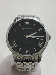 クォーツ腕時計/アナログ/ステンレス/BLK/SLV/AR-1614