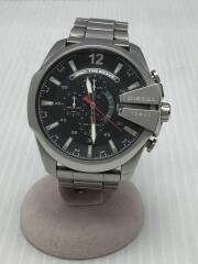 クォーツ腕時計/アナログ/ステンレス/ブラック/シルバー/DZ-4308