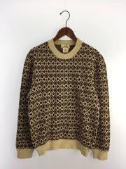 セーター(厚手)/M/ウール/BRW/総柄