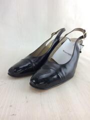 ストラップサンダル/シューズ/靴/7.5/ブラック/黒/53070/ヒール/レザー/革/6/レディース