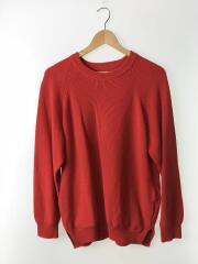 セーター(薄手)/2/コットン/RED/無地
