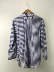 Somelosシャツ/19SS/長袖シャツ/38/コットン/BLU/ストライプ/