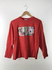 Chem factory TEE/長袖Tシャツ/M/コットン/RED/プリント/SC1910-LT01