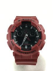 クォーツ腕時計/アナログ/ラバー/RED