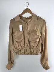 2019SS/Vintage Cropped Shirts/FREE/ポリエステル/BEG/11910406