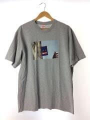 19AW/BANNER TEE/L/コットン/GRY/プリント/2/バナーT/フォトTシャツ
