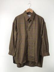 チェックスリットテールシャツ/FREE/ポリエステル/BRW/チェック/LUZ2002304A0002
