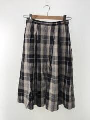 スカート/36/リネン/BLK/チェック/H5S33-549-40