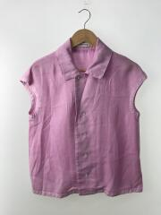 CAP SLEEVE BLOUSE OVER DYED TWILL/1/リヨセル/PNK/無地/MB171-5033