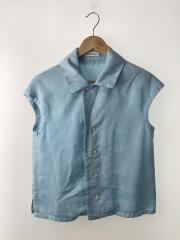 CAP SLEEVE BLOUSE OVER DYED TWILL/0/リヨセル/BLU/ノースリーブ