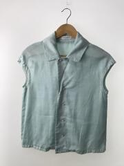 CAP SLEEVE BLOUSE OVER DYED TWILL/0/リヨセル/GRN/無地/MB171-5033