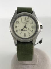 KHAKI/クォーツ腕時計/アナログ/WHT/GRN/9931