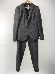スーツ/セットアップ/ジャケット48/ボトム42/ポリエステル/BLK/チェック