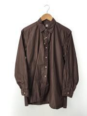 Regullar collar shirt/長袖シャツ/36/コットン/ブラウン/無地