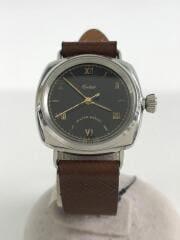 CORBETT-WRIST WATCH/クォーツ腕時計/アナログ/BLK/BRW