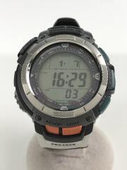 ソーラー腕時計・PROTREK/デジタル/ラバー/GRY/BLK