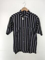 半袖シャツ/2/レーヨン/BLK/ストライプ/408302001/18年