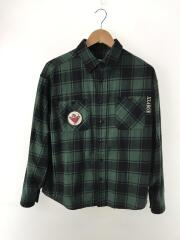 PATCHED CHECK SHIRT/S/コットン/GRN/チェック/101204014001