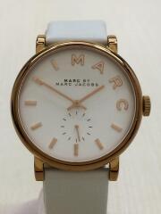 クォーツ腕時計/アナログ/レザー/WHT/WHT/MBM1283