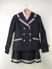 3点セットアップ/ジャケット/長袖シャツ/スカート/M/ポリエステル/BLK