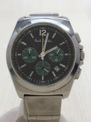 クロノグラフ/クォーツ腕時計/アナログ/BLK/SLV/GW-4W-S