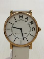 MJ1561/クォーツ腕時計/アナログ/レザー/WHT/WHT