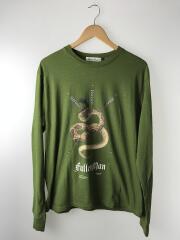 20AW/Fallen Man/蛇プリント/長袖Tシャツ/3/コットン/グリーン/UCZ4891-2