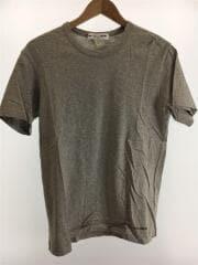 ロゴプリントSSカットソー/Tシャツ/S/コットン/グレー/無地/W25117