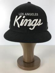 LOS ANGELES/ベースボールキャップ/7 3/8/リネン/BLK