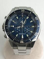 シチズン/ソーラー腕時計/アナログ/ステンレス/BLU/SLV/H500-S064597