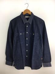 ヘッドポータープラス/長袖シャツ/XL/コットン/IDG/シャンブレーシャツ/襟コーデュロイ/タグ付