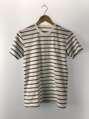 Tシャツ/S/ポリエステル/WHT/ボーダー