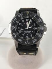 クォーツ腕時計/アナログ/BLK/GRY
