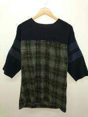 セーター(薄手)/1/コットン/ネイビー/チェック