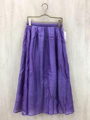 オーガンジーオーバーギャザースカート/32/シルク/PUP/11-05-81-05002/2018年