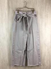ベルト付きロングスカート/36/コットン/BEG/sah-fsk20-2002