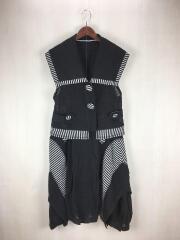 EIKO KONDO(エイココンドウ)/ノスリーブブラウス+デザインスカートセットアップ/42/リネン