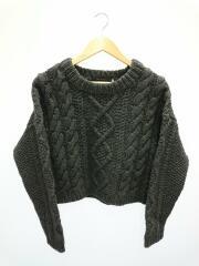 Wool Cable Knit/ウールケーブルニット/38/ウール/GRY/11520513