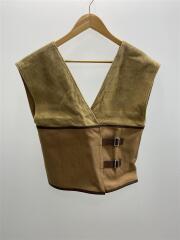 raffia combination vest/ラフィアコンビネーションベスト/FREE/BEG/MLS18211