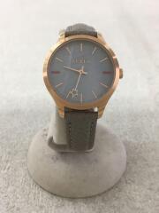 腕時計/アナログ/レザー/GLD/GRY/R4251119507