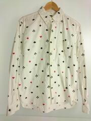 トランププリントフランネルシャツ/11RS-0903-A/長袖ボタンダウンシャツ