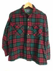 オープンカラーシャツ/開襟/50s/チェック/ループボタン