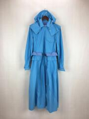 2019AW/Nylon taffta dress/36/ナイロン/BLU/TP92-FH221