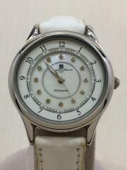 レディース/クォーツ腕時計/アナログ/レザー/WHT/WHT/SM-3104