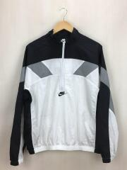 NIKE AS M NSW RE-ISSUE JKT WVN/ハーフジップナイロンジャケット/M/ナイロン/BLK